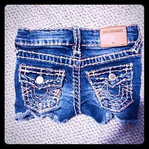 True Religion shorts toddler girl 3T